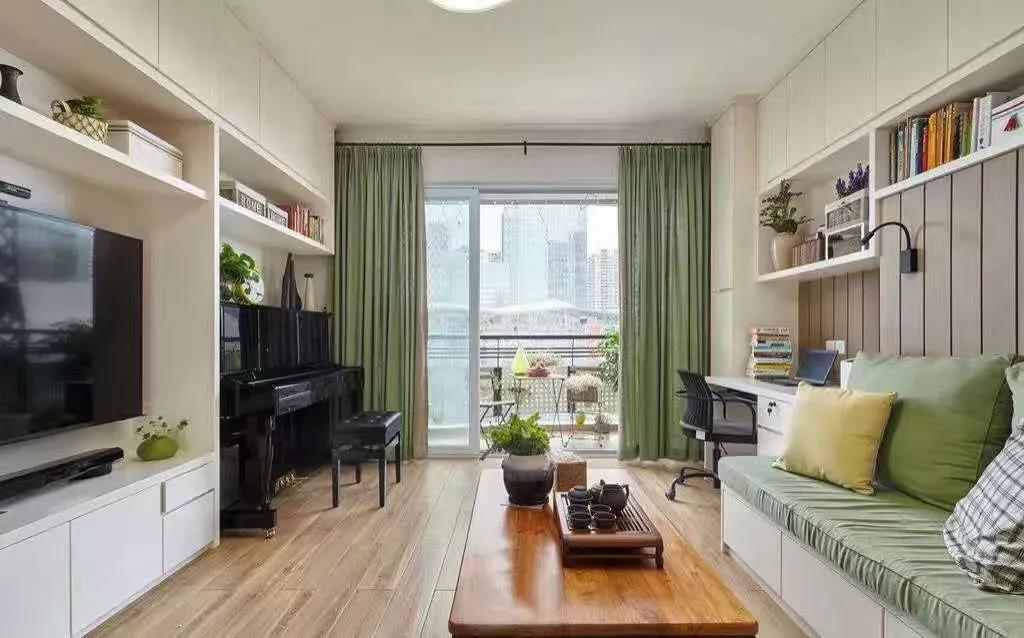 88㎡三居室,客厅功能,你看了会惊叹