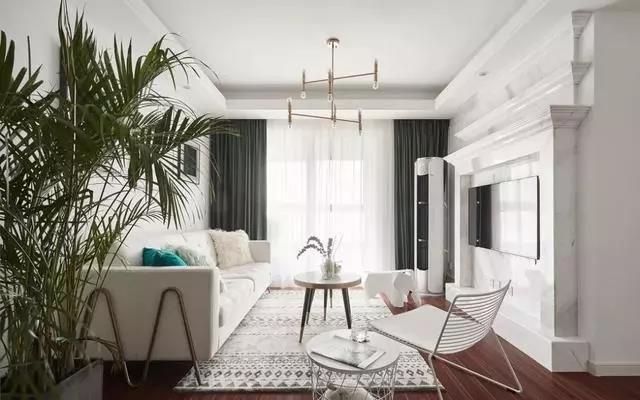 89㎡北欧小三房,只刷大白墙,就能装得这么漂亮!