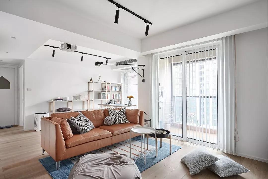 打造89㎡舒适3居,卧室只刷大蓝墙,瞬间装出高级感!