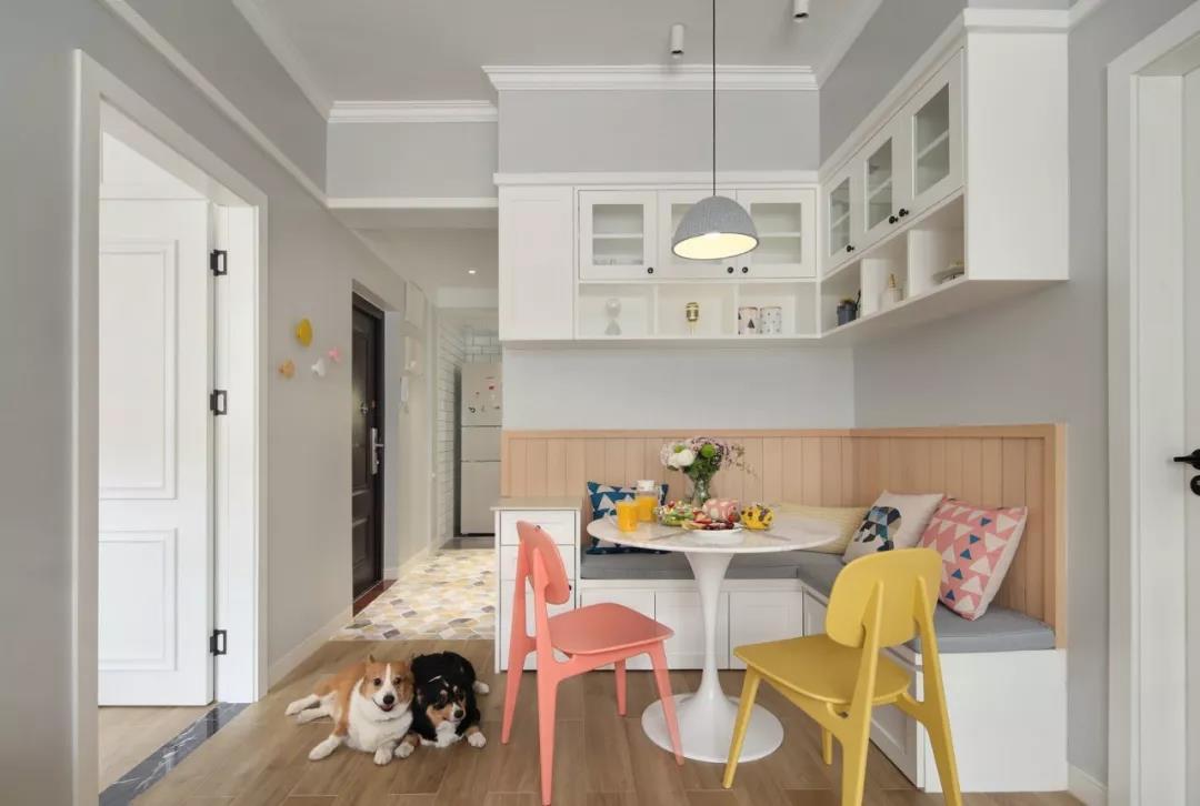76㎡淺色北歐風兩室兩廳,陽光充足,溫馨浪漫