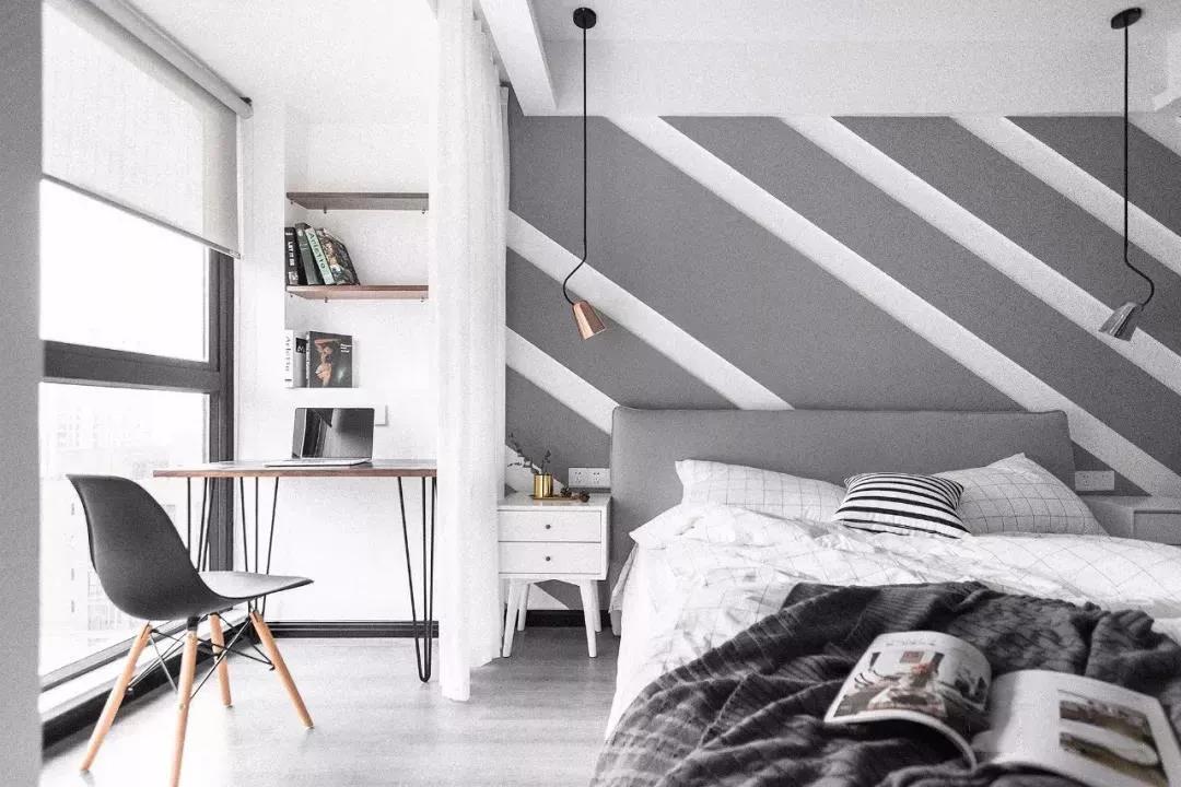 100㎡北欧三居室,简约高级的配色、软装,头一次见冰箱放在玄关处