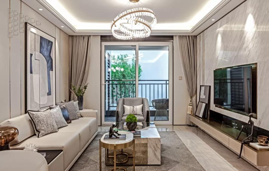 120㎡现代轻奢三居室,吊灯设计高级,儿童房软装最惊艳!