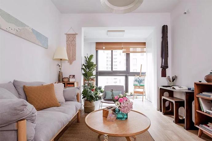 89㎡现代简约3居室新房,干净简约,阳台设计是我的最爱!