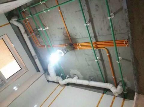 晋中新兴国际文教城135平米现代风格水电阶段