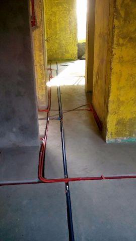 江阴金辰国际花园125平米现代简约风格水电阶段