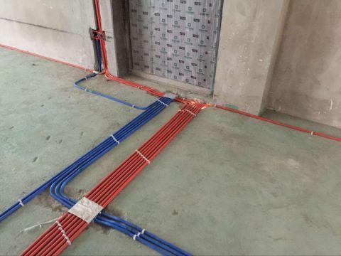 苏州希悦庭95平米日式风格水电阶段