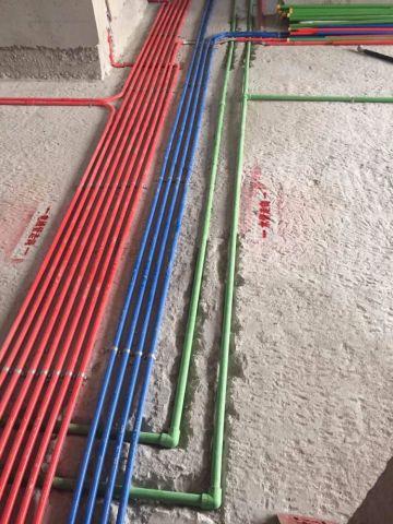东莞凯旋国际110平米简欧风格水电阶段
