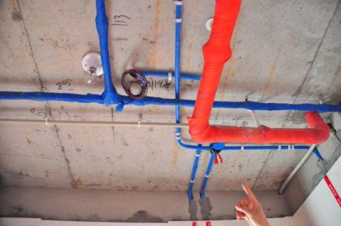 哈尔滨华润凯旋门73平米北欧风格水电阶段
