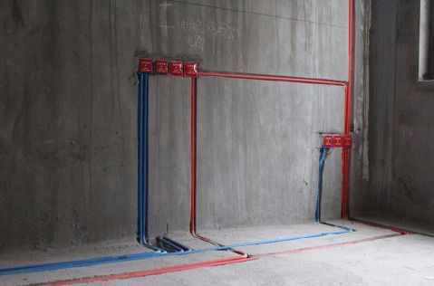 杭州郡望府136平米新中式风格水电阶段
