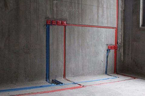 杭州中海寰宇天下140平米日式风格水电阶段