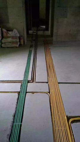 武汉二七新电江岸生活广场132平米混搭风格水电阶段