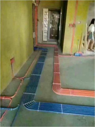 成都华侨凤凰国际城110平米中式风格水电阶段