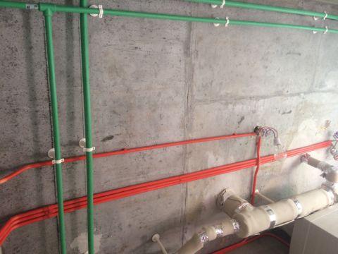西安天浩上元郡145平米美式风格水电阶段