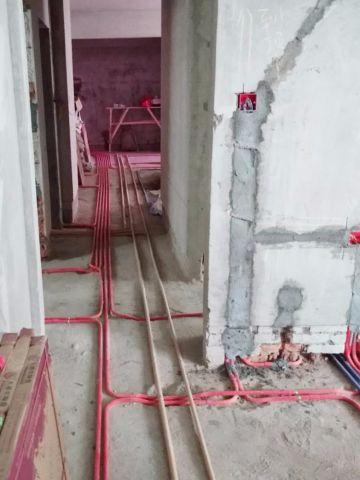 海口国兴城110平米中式风格水电阶段