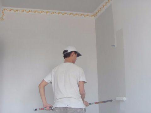 海口国兴城110平米中式风格油漆阶段