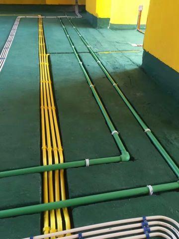 上海尚海湾120平米现代欧式风格水电阶段
