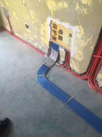 唐山铂悦山125平米美式风格水电阶段