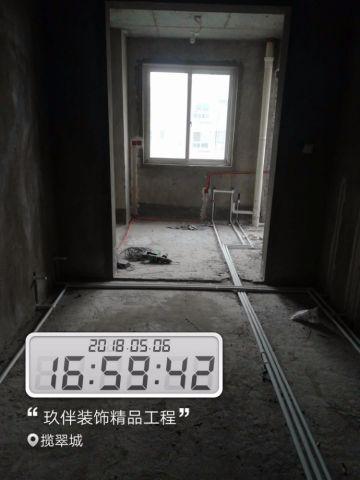 洛阳揽翠城105平米北欧风格水电阶段