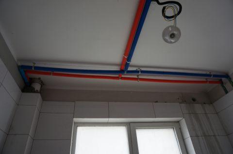 青岛奥克斯广场87平米简欧风格水电阶段