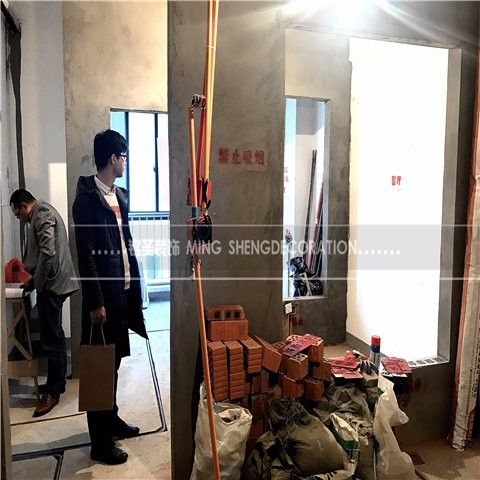 杭州爱尚里50平米现代风格水电阶段