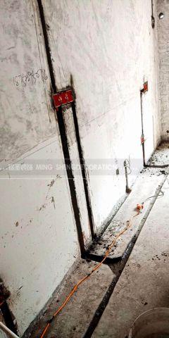 杭州嘉绿景苑107平米美式风格水电阶段