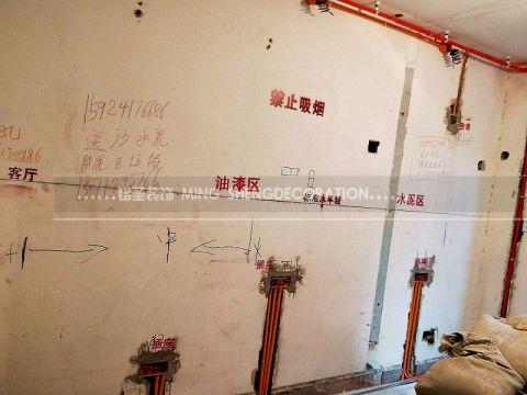 杭州古荡新村东55平米现代风格水电阶段