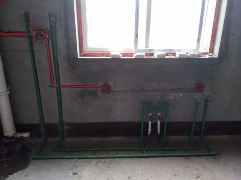 西安中铁尚都城102平米田园风格水电阶段
