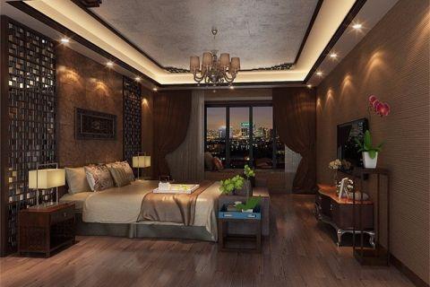 广州翡翠绿洲252平米中式风格