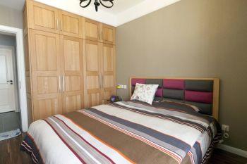 卧室黄色背景墙北欧风格装修设计图片