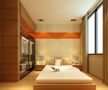 卧室白色榻榻米现代风格装潢设计图片