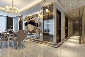 铂金丽都简欧豪装三居室装修效果图