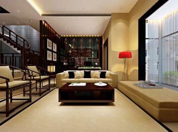 客厅新中式风格效果图