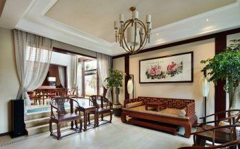客厅窗帘中式风格装饰设计图片