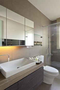 卫生间灰色现代简约风格装饰效果图