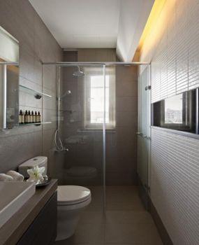 卫生间灰色背景墙现代简约风格装修图片