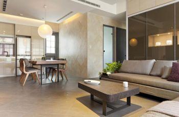 客厅米色现代简约风格装潢图片