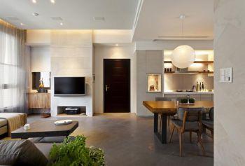 咖啡色走廊现代简约风格装潢设计图片