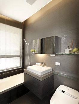 灰色背景墙现代简约风格装修效果图