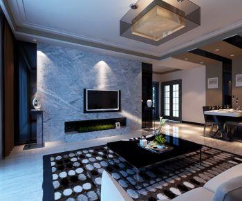 天誉城现代简约风格三居室家庭装修案例