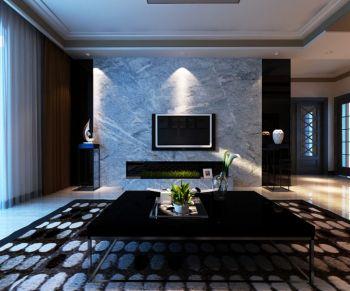 背景墙现代简约风格装潢图片