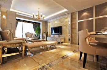 银海元隆高贵简欧风四居室家装案例图