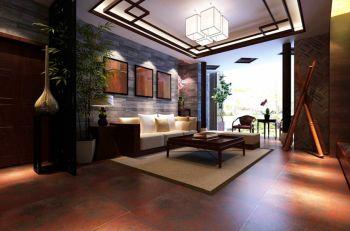 保利国际广场三居室中式装修效果图