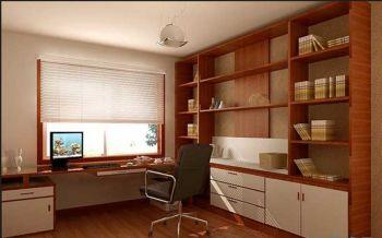 书房白色窗帘简欧风格装潢效果图