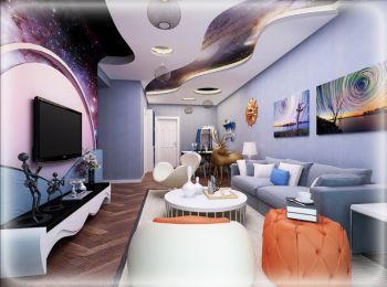观府一号现代时尚个性二居室装修案例图