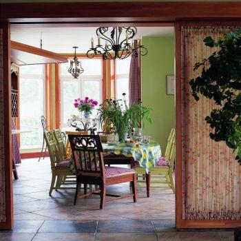 乡村田园混搭风格四居室装修案例图