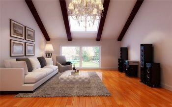 客厅白色沙发田园风格装修设计图片