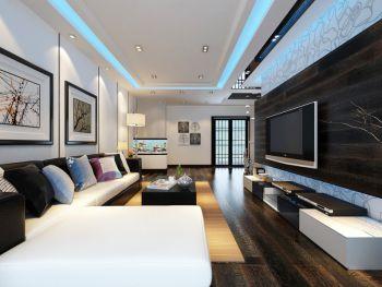 珠江湾畔现代风格三居室家装案例图片
