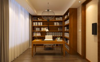 书房新中式风格装修效果图