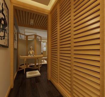 走廊日式风格装饰图片