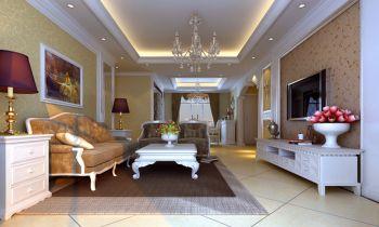 客厅现代欧式风格装修设计图片